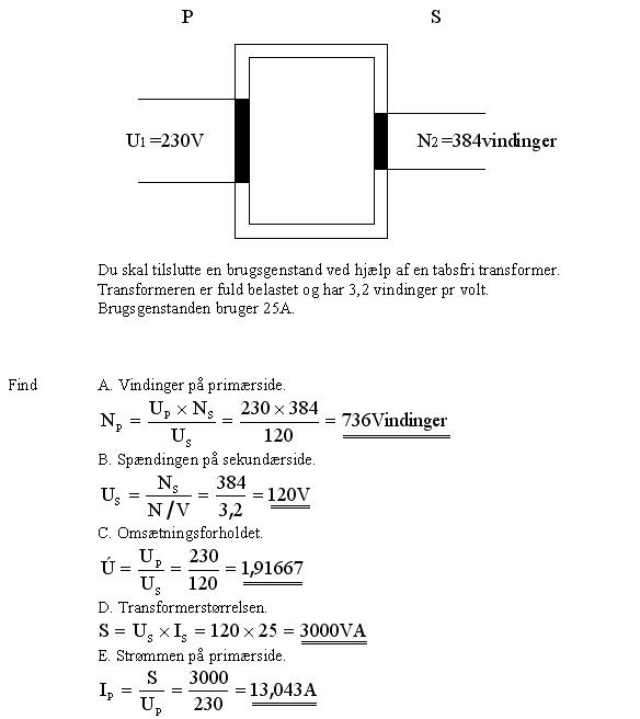 Transformer beregning